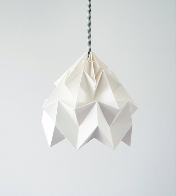 Moth origami lampshade white #lighting
