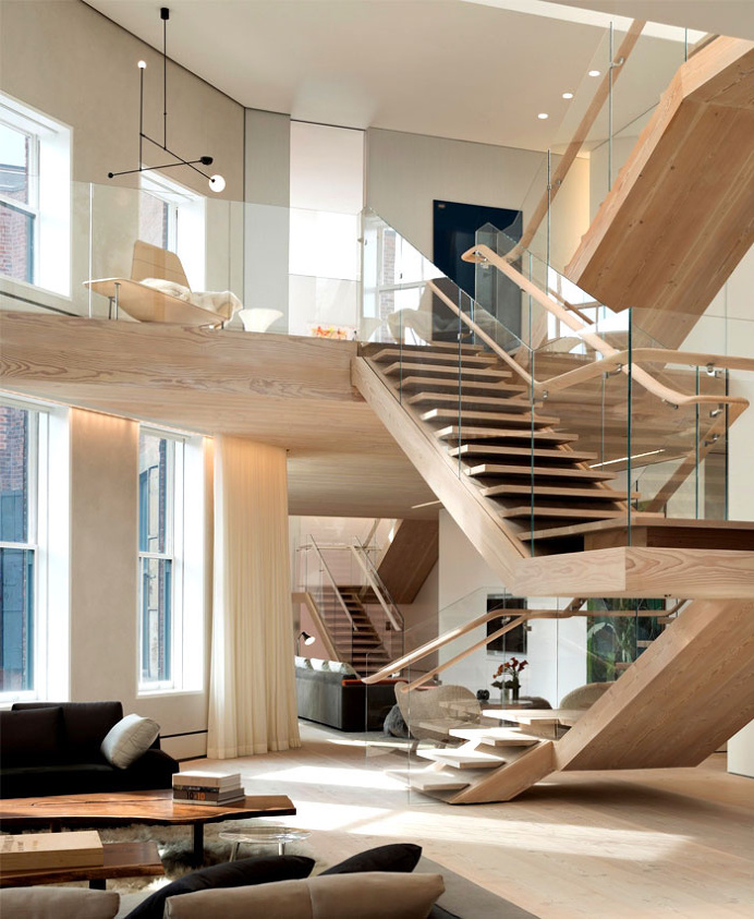Manhattan Penthouse by Gabellini Sheppard Associates - architecture, house, house design, dream home, #architecture, stairs, staircase, arch