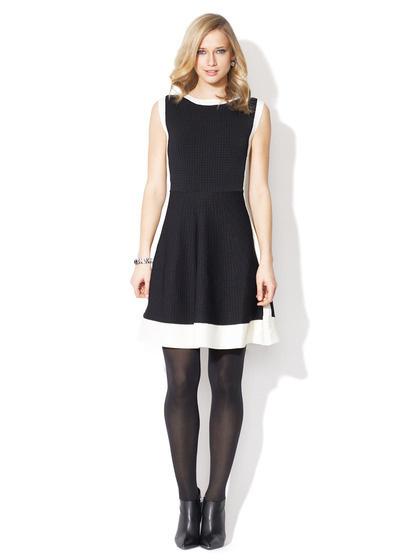 Pink Tartan Textured Panel Dress #white #black #and #fashion #dress