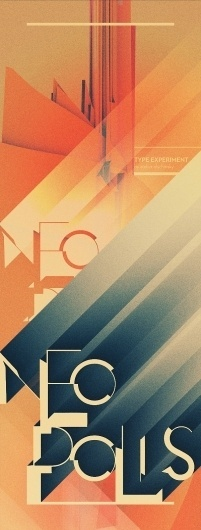 NEOPOLIS on the Behance Network #typography