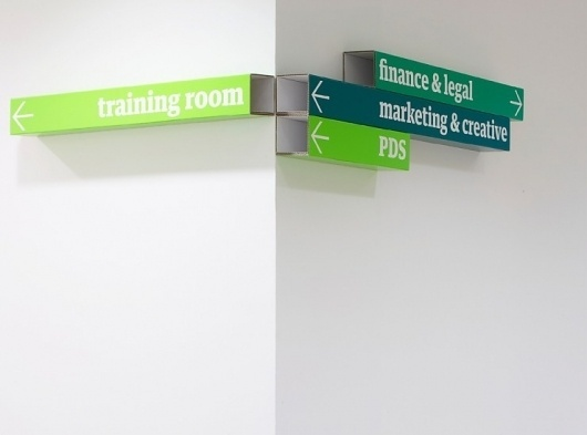 Kings Place offices wayfinding & signage | Cartlidge Levene #signage #type
