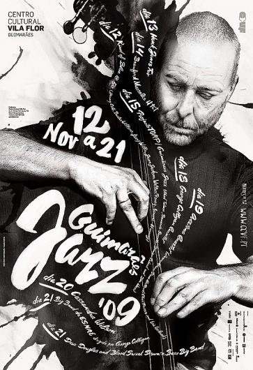 Guimarães JAZZ 2009 on the Behance Network #jazz #lettering #concert #poster