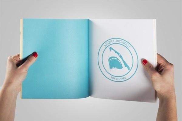 carolinebergsten.com #yearbook #design #graphic #shark #emblem