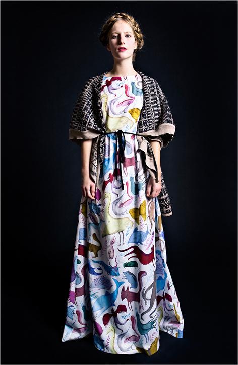la casita de wendy #pattern #folk #animals #fashion #dress