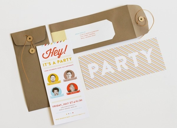 angela hardison.: four birthdays and one big party. #invite #invitation #print #type #party