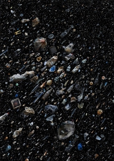 Ocean Trash Collages by Mandy Barker #universe #stars #art #trash #collage