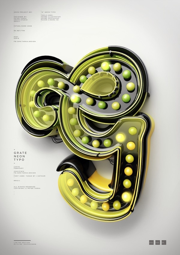 Typography 10. #design #letter #digital #type #3d #typography