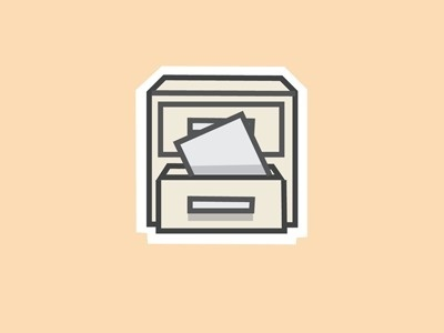 Dribbble - File Icon by Liam Wolf #illustration #file #icons #cabinet