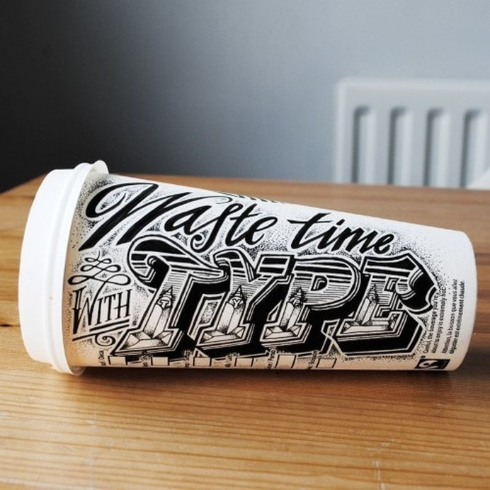Hand Lettered Coffee Cups by Rob Draper   Downgraf #coffee #lettering #hand #typography