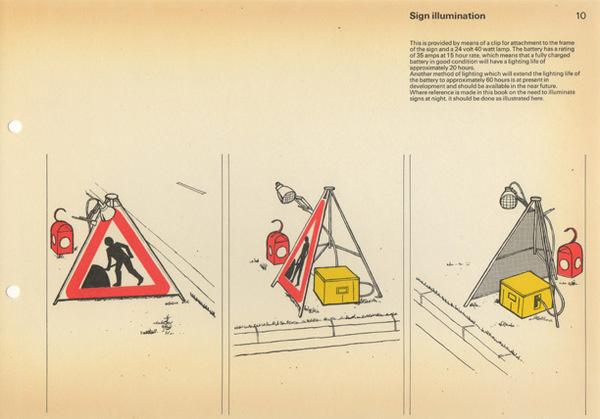 Post Office Road Work Guarding Manual #post #print #design #graphic #office #illustration #manual