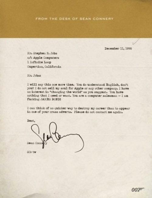 Attitude #sean #letterhead #connery #film