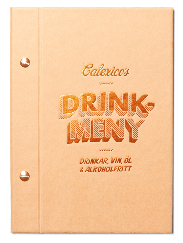 Calexico's on Behance #pink #menu #restaurant #snask #identity #gold #foil