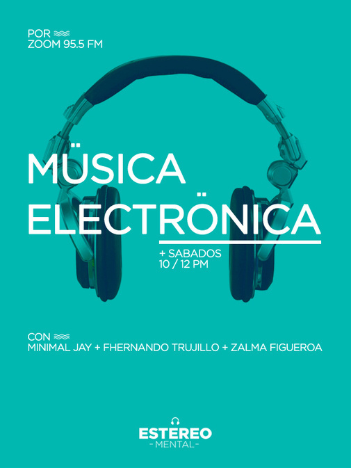 Estereo Mental Flyer #flyer #turquoise #mental #poster #estereo #music #blue #electronic