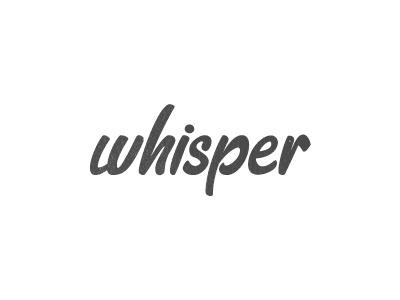 whisper logo in typography