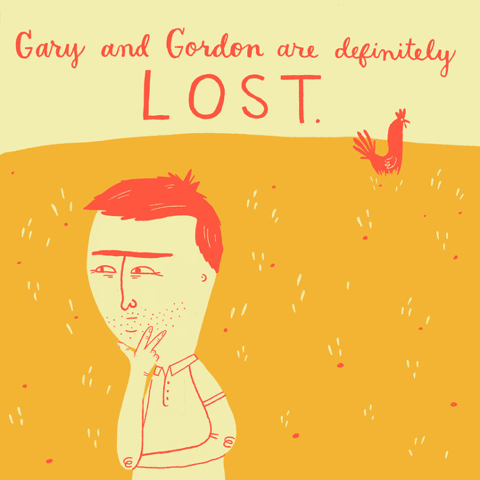 lost, chicken, Mary Kate McDevitt, illustration, fun, abstract, person
