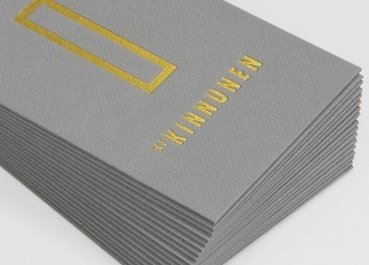 KI Kinnunen Identity on the Behance Network #card #business #foil