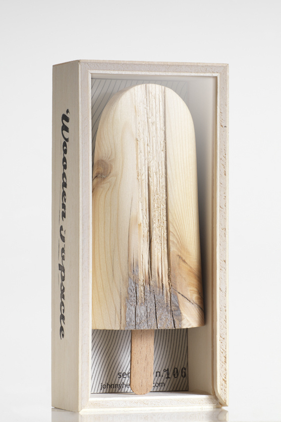 CJWHO ™ (WOODEN POPSICLE by Johnny Hermann Mauro Savoldi...) #pop #wood #popsicle #lolly #ice #useless