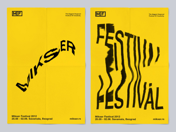 Mikser Festival 2012 on Behance #distortion #xerox #typography