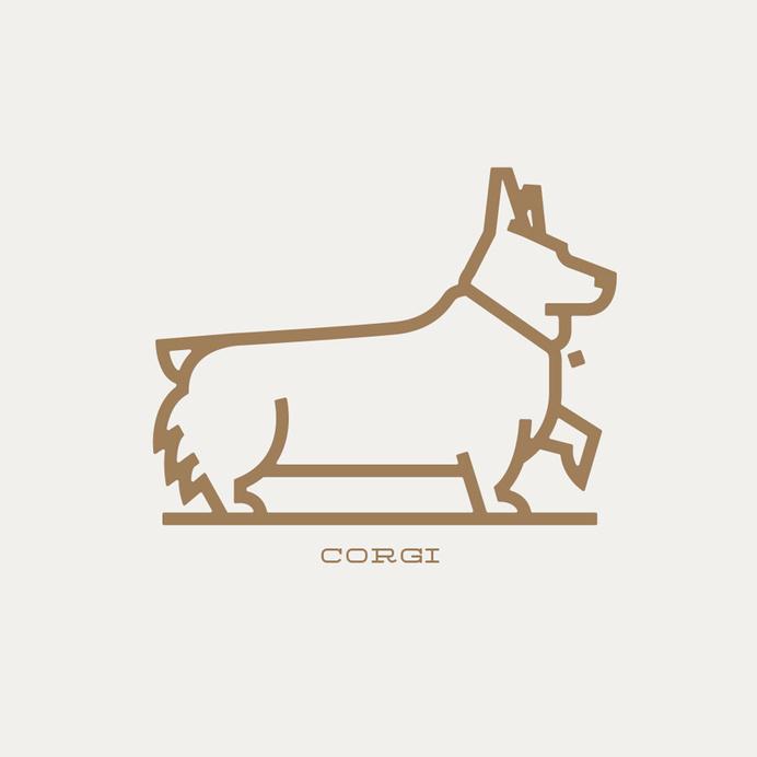 corgi #corgi #stroke #vector #clean #simple #outline