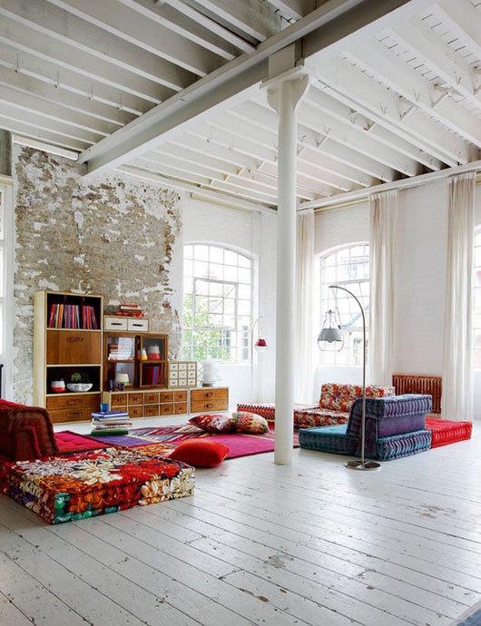 colorful loft #interior #design #decor #deco #decoration