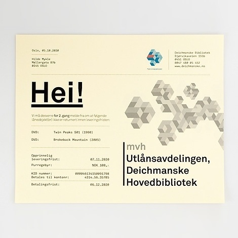 Deichmanske Library identity at iainclaridge.net #identity