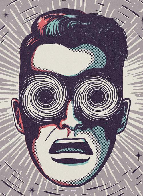 Designersgotoheaven.com Kindred Studio forMENS HEALTH. #eyes #crazy