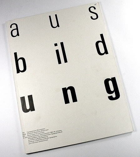 rrrrodéo #ausbildung #cover #type #typo #typography