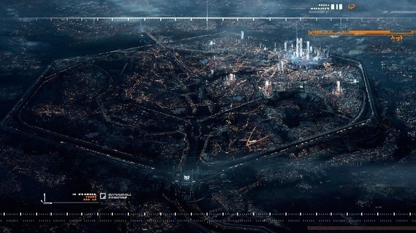 Future City From Above #city #future #space