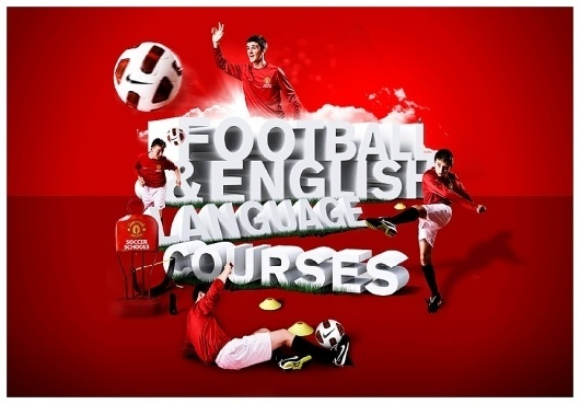 Manchester United Soccer Schools - Maldesign #type #collage #3d