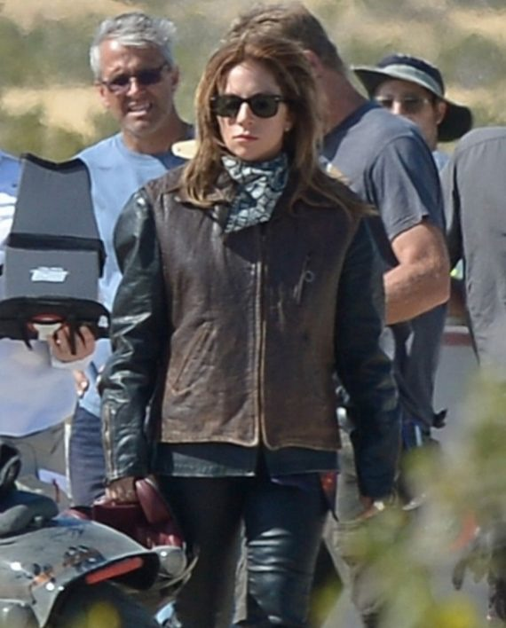 Lady Gaga A Star Is Born Brown Leather Vest