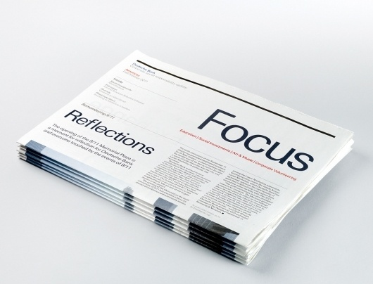 Studio 2br – Recent Projects Showcase   September Industry #print #design #typography #minimal #newspaper