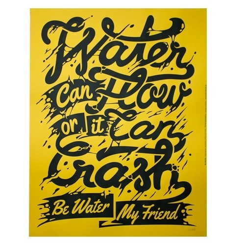 Be Water #yellow #design #brucelee #poster #typography