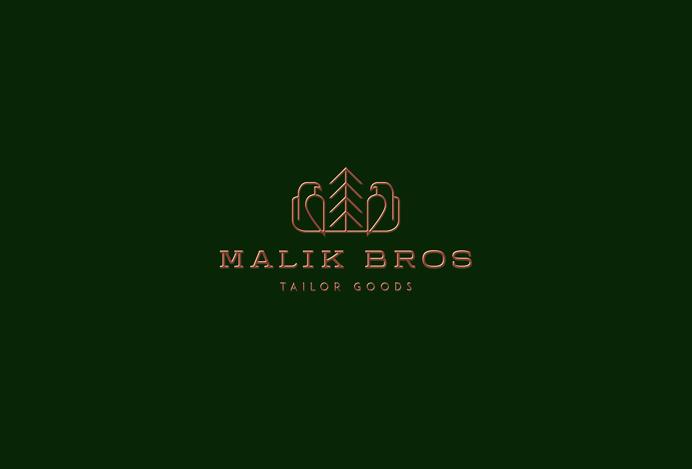 Malik Bros - Tailor Goods branding corporate design by Sebastian Bednarek new minimal beautiful green mindsparkle mag