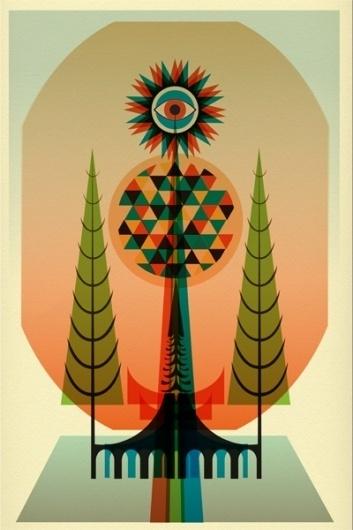 Patrick Draws Things #eye #illustration #tree