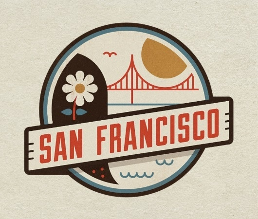Dribbble - sf_large.png by Jesus #badge #cardenas #san #flower #jesus #illustration #gate #golden #francisco #bridge