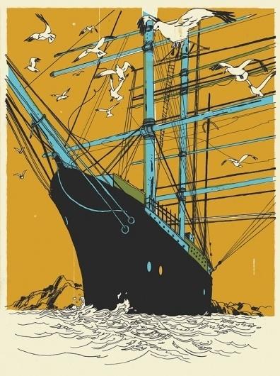 Josh Cochran: work #illustration #ship #josh #cochran
