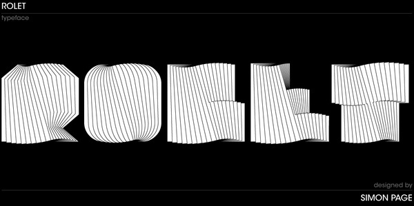 Rolet Typeface on the Behance Network #typography