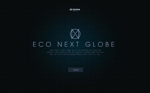 Eco Next Globe on Behance #type #web