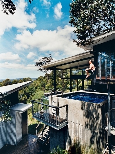 Coolest Homes for Artists & Art Collectors - Slideshows - Dwell #modern #design #cannonball #pool #dwell #architecture #jump #housing