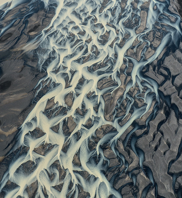 Photograph The grid of river by Andre Ermolaev on 500px #iceland