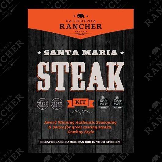 CaliforniaRancher_SantaMariaSteak_2.jpg 600×600 pixels #packaging #branding