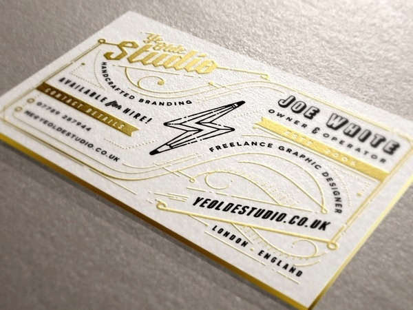 Ye Olde Studio Cards #business #print #design #graphic #retro #cards