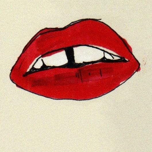 1022 | Flickr: Intercambio de fotos #teeth #aijon #beso #dientes #illustration #labios #jorge #mouth #kiss
