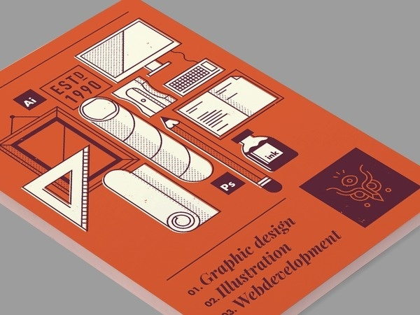 Gravual Flyer #illustration