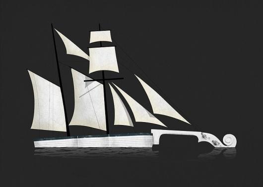 Musical Voyage Art Print by Speakerine | Society6 #music #vector #boat #violon