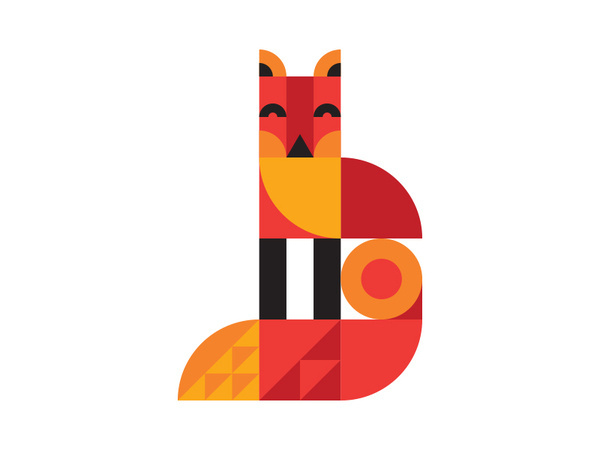 Fox #geometry #illustration #animal #simplified