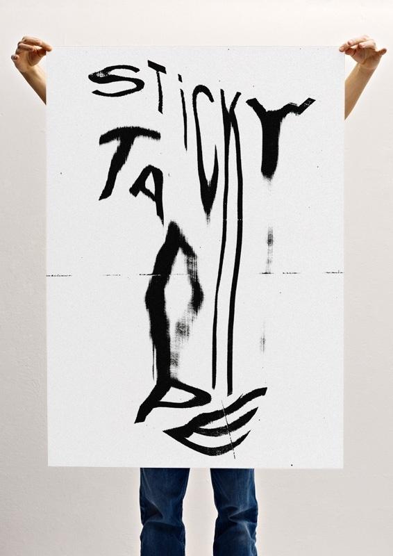 Sticky Tape - christina michelitsch #sticky #tape #poster
