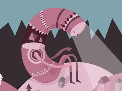 Forest Monster - Ingunn Dybendal #fantasy #vector #illustration #magic #monster #character