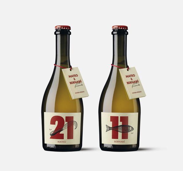 mateo and bernabe. destacado. www.moruba.es #bottle #packaging #print #letterpress #wine