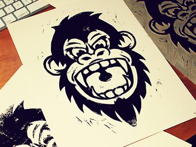 Dribprint #print #ape #screen #illustration #gorilla